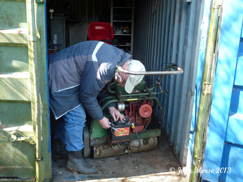 dave fixing mower